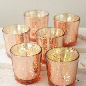 Rose Gold Mercury Votive Candle Holders You Cant Beat This Party