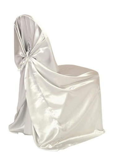 satin self tie chair cover white or ivory you can t beat this