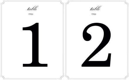 Table Numbers Amp Stands You Can T Beat This Party Rentals