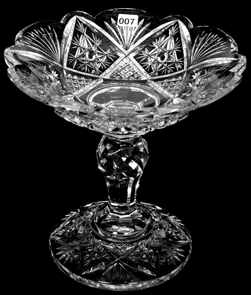 Standing Glass Serving Bowls