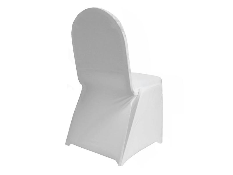 Sensational Spandex Chair Cover Ivory Or White Inzonedesignstudio Interior Chair Design Inzonedesignstudiocom