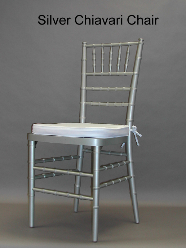 Silver Chiavari Chairs with Pad