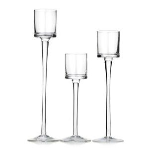 3 Level Tall Stem Floating Candle Holders