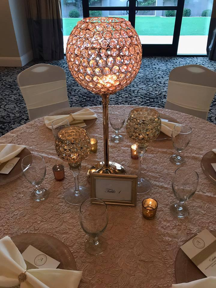 Rose Gold Crystal Globe Centerpiece You Can T Beat This