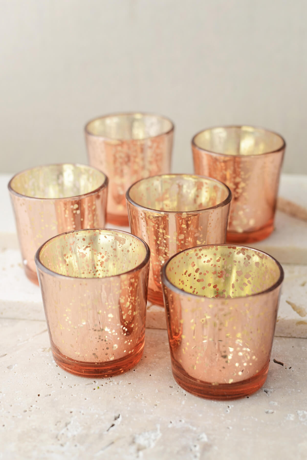 Rose Gold Mercury Votive Candle Holders You Can T Beat