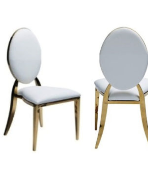 Gold Oval Elegance Chair/ Washington Dining Chair- Finer Detailz Luxury Collection