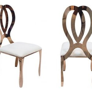 Rose Gold Infinity Chairs- Finer Detailz Luxury Collection